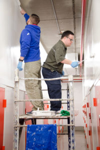 John painting at U-Haul- one of our employers